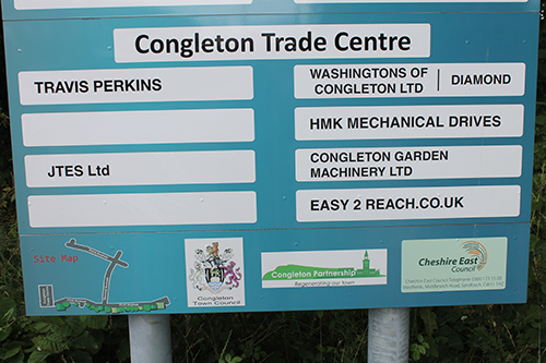 Radnor Park Signs Congleton